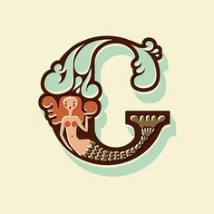 I swear, I was sketching a C with water elements and then I came across this! It's a sign!    This is adorable, love the idea of mixing illustrations/ cartooning with typography
