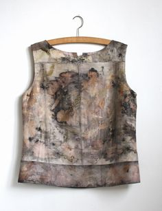 eco printed top front