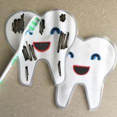 Brush brush brush those teeth! Another super fun activity found on Pinterest  #iteach #weteach #iteachsped #weteachsped…
