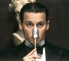 Johnny Depp spooning