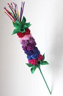 Bibułkowy ogródek Jolenty: marca 2013 Foam Sheets, Gift Hampers, Diy Flowers, Quilling, Holiday Cards, Glass Vase, Diy And Crafts, Easter, Aga