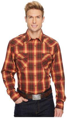 Cinch - Modern Fit Western Plain Men's Long Sleeve Button Up