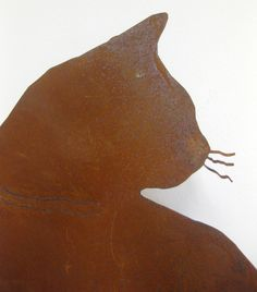 Katze - Metall - Rostig von kunstbedarf24 auf DaWanda.com