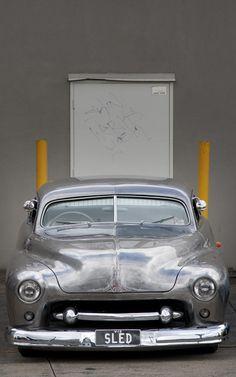 Visit The MACHINE Shop Café... ❤ Best of Custom @ MACHINE ❤ (1951 Mercury Custom Led Sled)