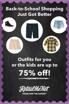 RetailMeNot has deals to make sure you wear it best this back-to-school season!