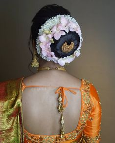 Bridal Hair Buns, Indian Flowers, Bun Hairstyles, Blouse Designs, Braids, Hair Beauty, Blouses, Long Hair Styles, Photos