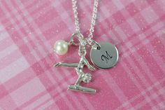 #Gymnastics Necklaces Personalized for Girls - ALL 925 Sterling Silver Jewelry