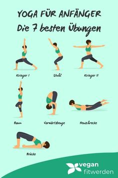 These 7 yoga exercises are perfect for beginners. Simply explained with pictures. Start now into a vital future with these 7 yoga exercises for home. beginners home Yoga for Beginners – The 7 Best Exercises for Yoga Beginners Yoga Fitness, Fitness Workouts, Physical Fitness, Insanity Workout, Best Cardio Workout, Pilates Workout, Yoga Meditation, Yin Yoga, 30 Minute Yoga