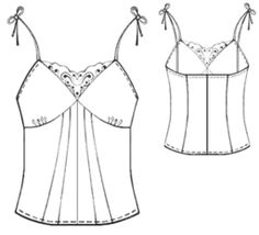 example - #5417 Top with lace insert
