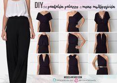 DIY Sewing | Cómo hacer un mono largo multiposición de unos pantalones palazzo. Palazzo pants | Infinity dress | Infinity jumpsuit