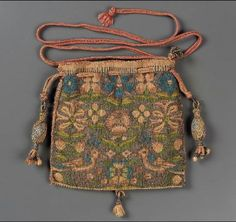 Drawstring bag        English, 1575–1650