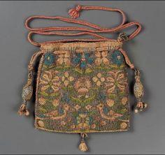 Drawstring bag        English, 1575–1650