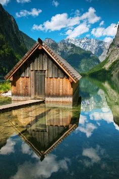 Boathouse Reflection by Carl Tush #travel #architecture #photo #image #city