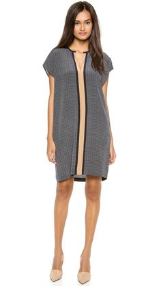 Vince Printed Shift Dress - perfect for 2nd trimester and postpartum!