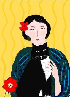 ...Barbara Perrine Chu - Woman with Black Cat