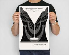 Illustration F. Scott Fitzgerald Quote Art Print by ObviousState, $24.00