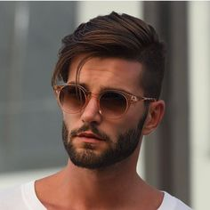New haircut modern men facial hair ideas Mens Hairstyles With Beard, Cool Hairstyles For Men, Cool Haircuts, Hairstyles Haircuts, Haircuts For Men, Sweet Hairstyles, Men Hairstyle Thick Hair, Classic Mens Hairstyles, Trendy Mens Hairstyles