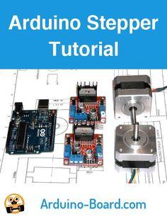 Driving stepper motors with an Arduino and an driver board. Arduino Motor, Arduino Cnc, Arduino Programming, Arduino Board, Hobby Electronics, Electronics Projects, Arduino Stepper, Robotics Projects, Diy Tech
