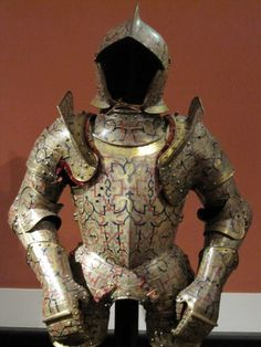 Beautiful decorated armour