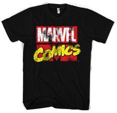 Marvel Comics Retro Logo Koszulka Męska