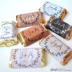Custom wedding favor rustic wedding favor candy by KaspiCrafts, $10.00