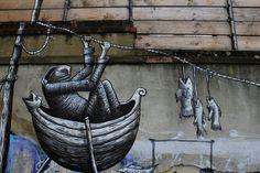 Phlegm Street Art Brick Lane Londra street art graffiti london