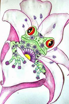 Zentangle Frog ~Chryssi