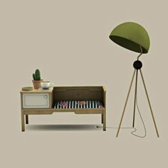 Leo Sims - Bench table and floor lamp for The Sims 4