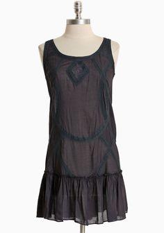 Midnight Moon Sleeveless Dress | Modern Vintage Cute Dresses For Date Night