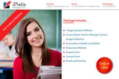 iPistis Technologies Pvt. Ltd. Offers 5 pages #DynamicWebsite At unbelievable Price at just Rs1499 So to take advantage Call us on 9953300349