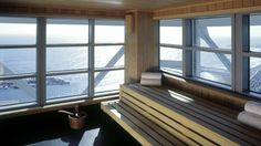 Hotel Arts Barcelona - Six Senses Spa – Sauna with views over the Mediterranean on 43rd floor
