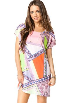 Abstract Rome Dress / ShopSosie #Abstract #Print #Shift #Dress #ShopSosie