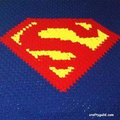 Free Crochet Patterns ~ Superman blanket