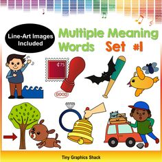 multiple meaning words - homonym clipart