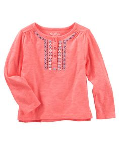 Baby Girl Puff-Print Top from OshKosh B'gosh. Shop clothing & accessories from a trusted name in kids, toddlers, and baby clothes.