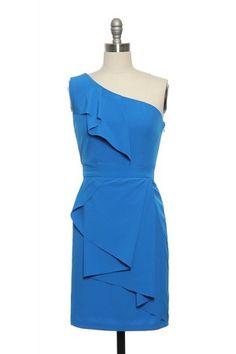 Draped in Blue Dress