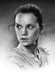 A4 pencil drawing of the gorgeous Daisy Ridley as Rey from Star Wars: The Force Awakens!
