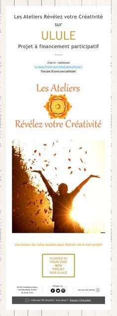 Les Ateliers Révélez votre Créativité sur  ULULE  Projet à financement participatif