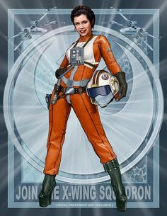 The Princess. The flight suit obscures the whole reason for the platform/high healed boots, but okay.