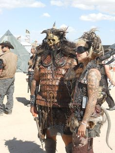 . Post Apocalyptic Costume, Post Apocalyptic Fashion, Apocalypse World, Post Apocalypse, Wasteland Warrior, Wasteland Weekend, Burning Man Fashion, Recycled Leather, Mad Max
