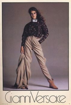 Brooke Shields for Gianni Versace, photographed by Richard Avedon, Fall/Winter 1980
