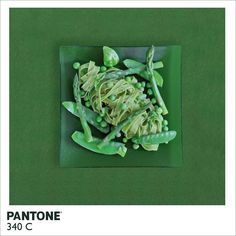 Alison Anselot took a witty approach to Pantone color swatches and food photography by blending them together to create her project Pantone Food, a series of monochromatic foods paired with a corresponding swatch color.