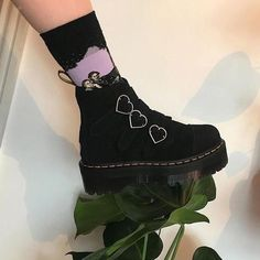 Love Bites Boots shoes aesthetics boots grunge boogzel Source by boogzel Shoes Mode Pop Punk, Mode Emo, Pretty Shoes, Cute Shoes, Me Too Shoes, High Heels Boots, Shoe Boots, Aesthetic Shoes, Aesthetic Clothes
