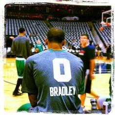 Avery Bradley in warmups before Game 5 at Philips Arena in Atlanta, GA.