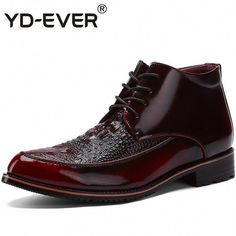 YD-EVER genuine Leather Handmade Ankle Boots Men crocodile Warm Snow Boots Rubber Winter Fur Martin Military Casual Shoes - Foratshop Crocodile, British Style Men, Mens Boots Online, Warm Snow Boots, Mens Boots Fashion, Men's Fashion, Fashion Sites, Mens Ankle Boots, Simple Shoes