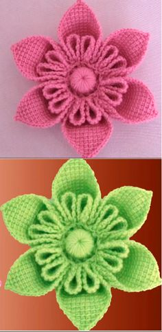 Crochet Flower Patterns 3 D Flower Step By Step Video Tutorial Crochet Flower Hat, Crochet Flower Tutorial, Knitted Flowers, Crochet Gloves, Crochet Flower Patterns, Crochet Doilies, Crochet Ideas, Tunisian Crochet, Irish Crochet