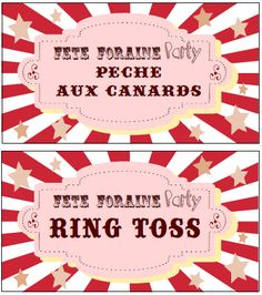 Etiquettes jeux fête foraine party Carnival Booths, Carnival Themes, Carnival Birthday, Boy Birthday, Happy Birthday, Invitation Fete, Invitations, Party Fair, Game Tag