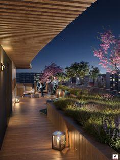 Rooftop Terrace Design, Terrace Decor, Rooftop Lounge, Balcony Design, Roof Design, Deck Design, Garden Design, Indian Temple Architecture, Terrasse Design
