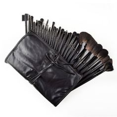 32 Pcs Elegant Professional Beauty Cosmetic Makeup Brush Set Kit with Free Case by Crazy Cart. $21.29. Features: 1. High quality 32-piece makeup brush set is an essential for the professional artist 2. Made of goat hair, soft to use 3. Durable case included to keep your makeup beauty brushes protected 4. Hold the makeup brushes organized with the elegant case, easy to store 5. The beauty brushes are perfect for individuals with normal to sensitive skin and will not irritate you 6...