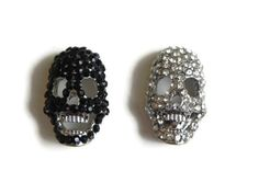 skull charms rhinestone skull charms crystal encrusted by DNAGems